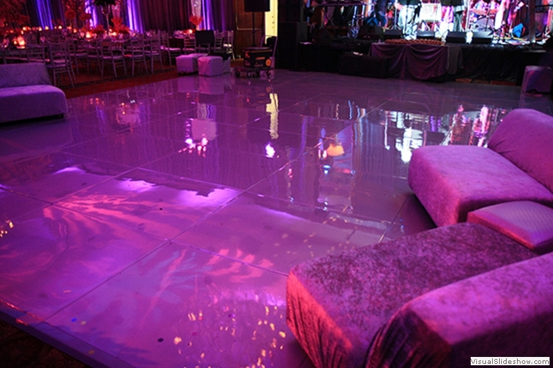 Purple Dance Floor Rentals