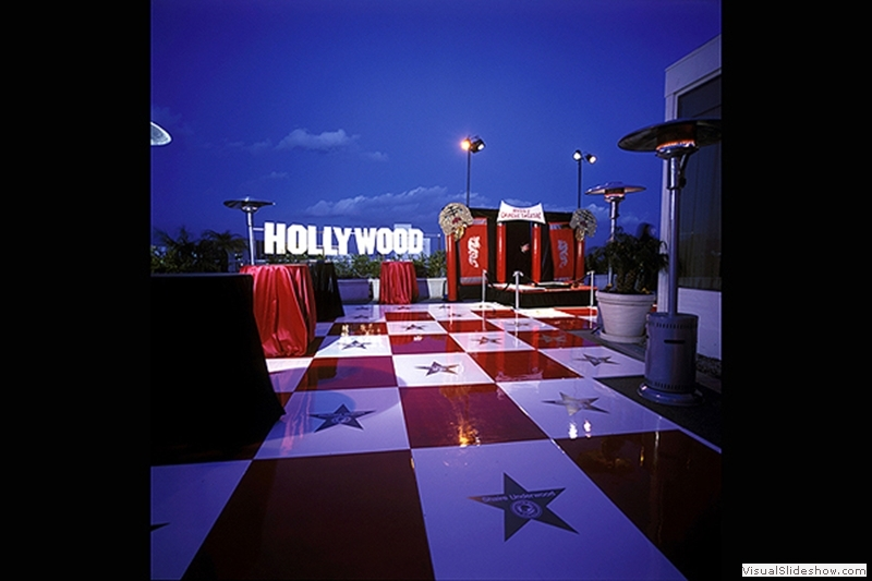 Red and White Dance Floor Rentals
