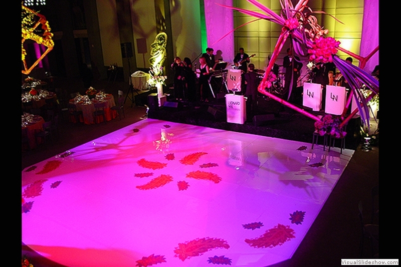 Seamless White Dance Floor Rental